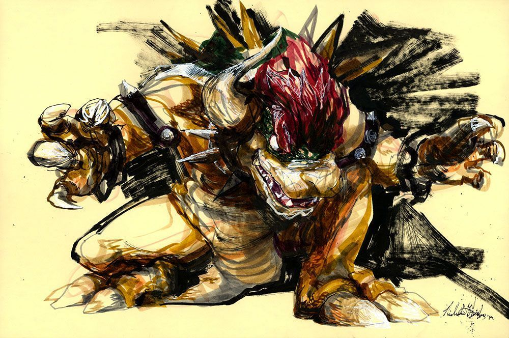 Giga Bowser by @nicholasfrizalone #art #JeffOwnsYou #ironfinger #drawing #draw #nintendo #bowser #mario #supersmashbrosultimate #smashbros #supersmashbros #ssbu #marioart #markerdrawing #mixedmedia #longisland #longislandart #longislandartist #bowserart #videogameartwork #goldenratio #phi #lightworker