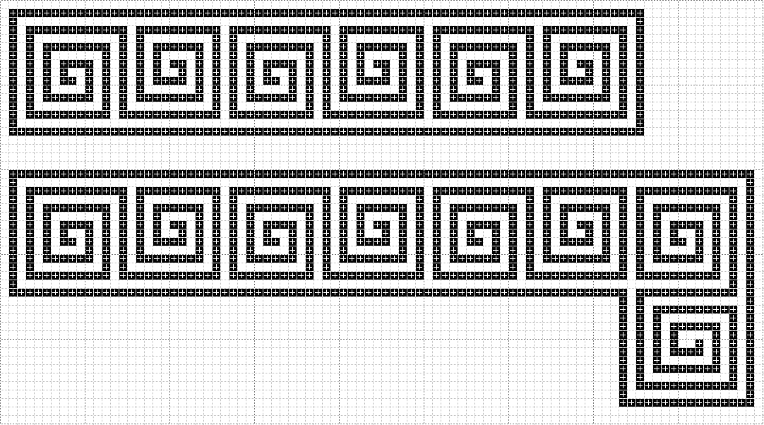 Blackwork Patterns Pt 4   History of Costuming - Byzantine Double Meandering Pattern  Could do this as a beadwork piece and add to Byzantine garb   #Byzantine #garb #SCA #loombeading