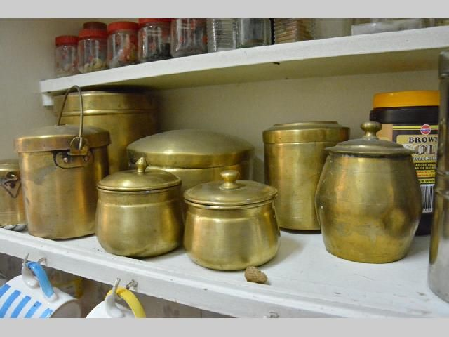 Host gouri 39 s traditional vintage brass utensil collection for Traditional indian kitchen pictures