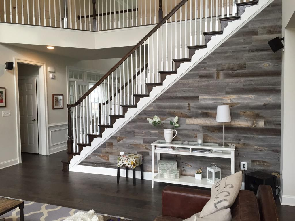 Reclaimed Weathered Wood Planks -Stikwood Peel and Stick Wood Wall Coverings - Stikwooddesign Loving My New #Stikwood Accent Wall, Thank You For