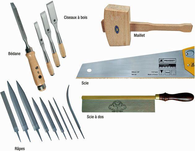 les outils de base pour faire des assemblages bois assemblage outils et bo tes. Black Bedroom Furniture Sets. Home Design Ideas