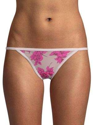 cb037c153ec Calvin Klein Logo Accented Bikini Panties