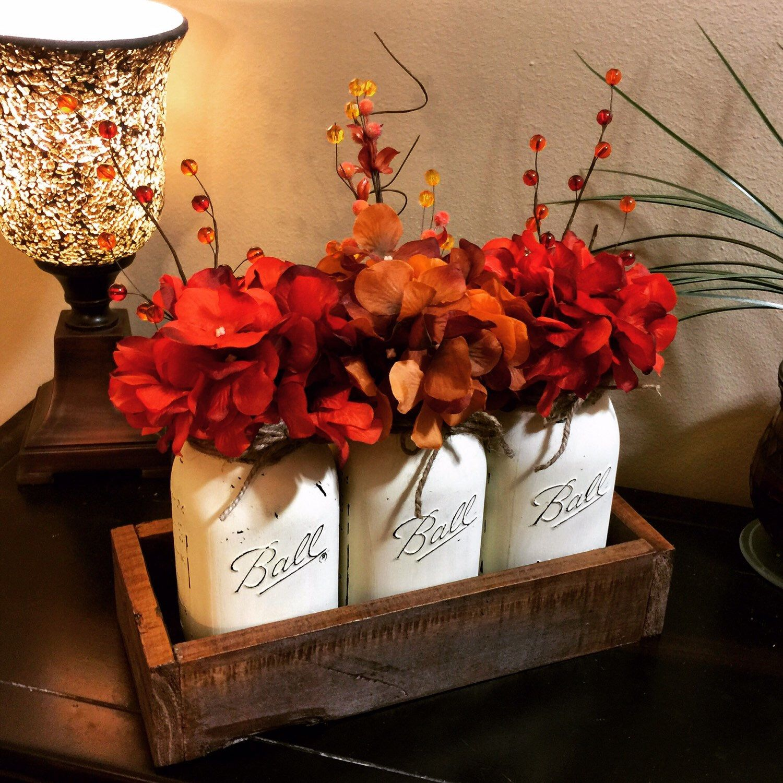 Fall decor for wedding Home and Living Mason Jar Decor Fall Decor Fall Decorations