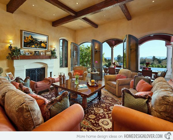 15 Stunning Tuscan Living Room Designs Tuscan Living Rooms