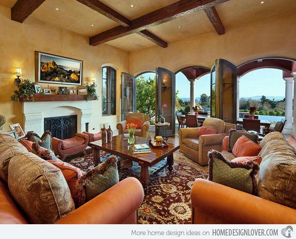 15 Stunning Tuscan Living Room Designs Tuscan Living Rooms