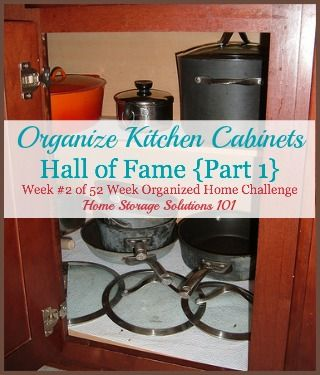 Organize Kitchen Cabinets Hall Of Fame: Before & After Pictures #organizekitchen