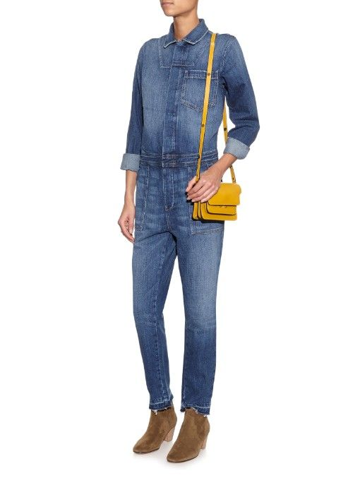 8b38f8944960 Current Elliott The Jailbird denim jumpsuit