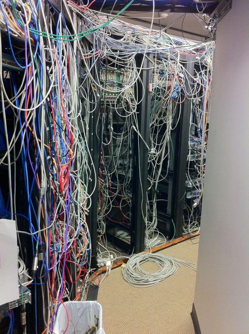 hight resolution of real world server room nightmares