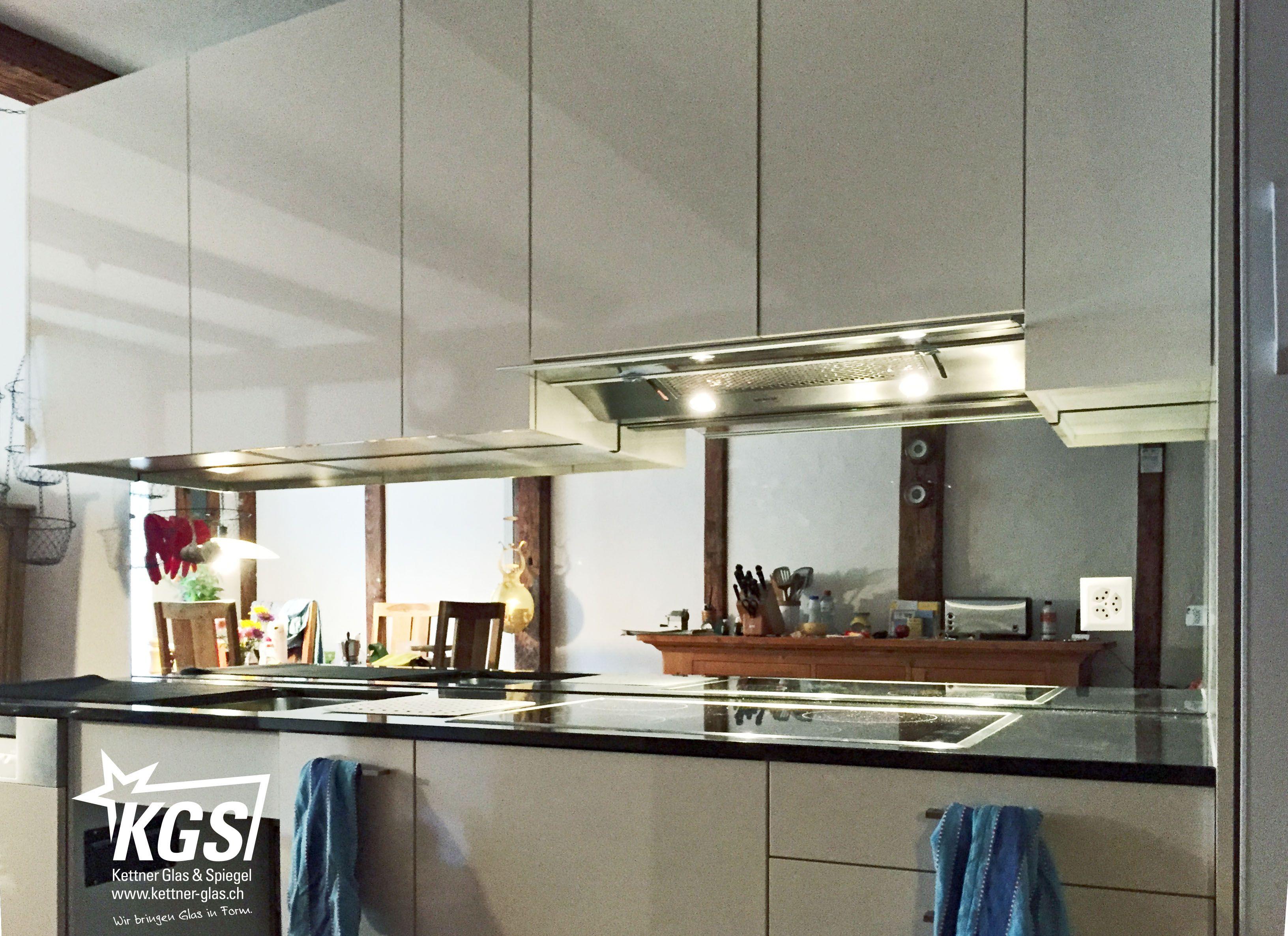 Glas- #Küchenrückwand aus gehärtetem #Spiegel von ihrer #Glaserei ...