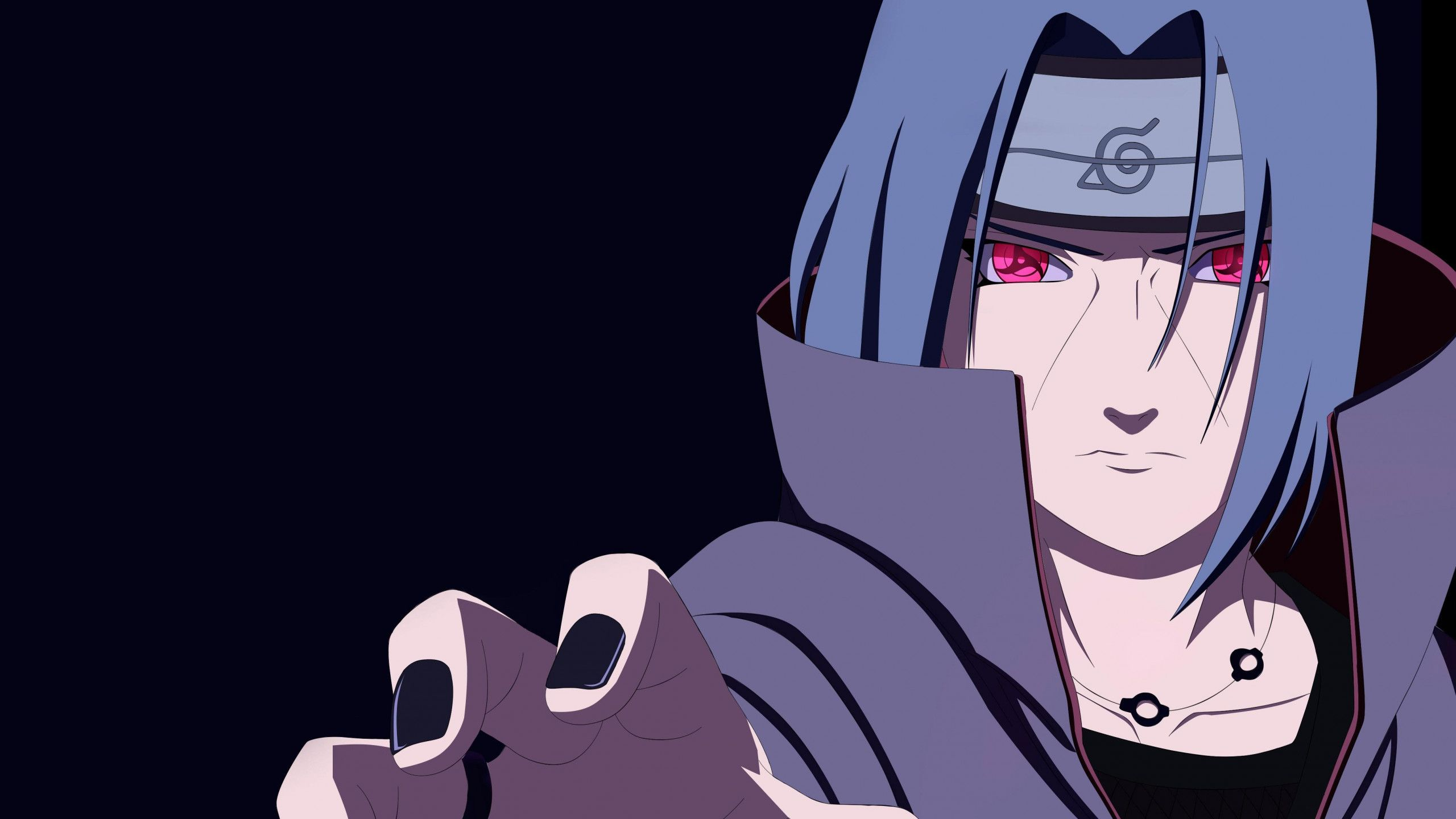 Res 2560x1440 Naruto Itachi Uchiha Mangekyou Sharingan