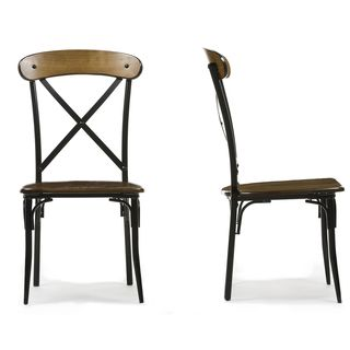 modern metal dining chairs. INSPIRE Q Nelson Industrial Modern Rustic Cross Back Dining Chair  Set of 2