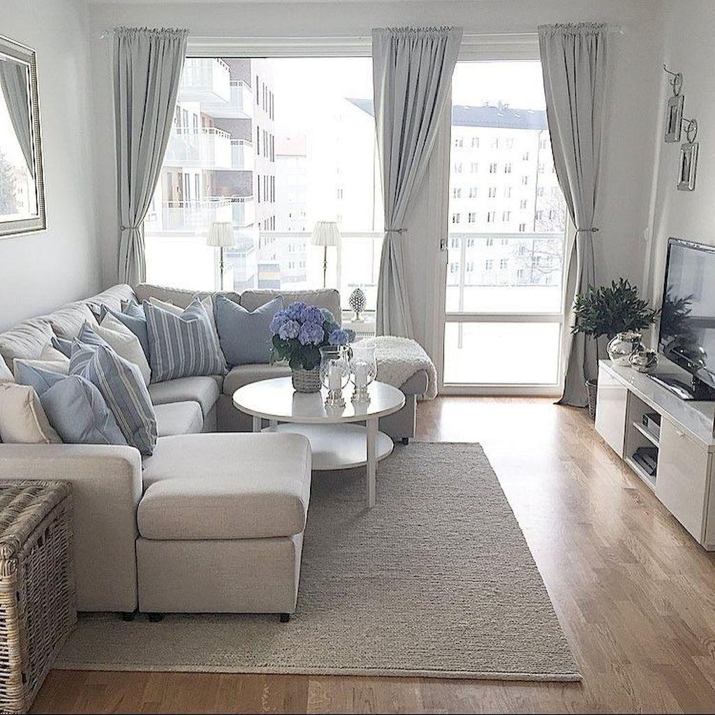 85 Small Apartment Living Room Decor Ideas | Apartment living, Small ...