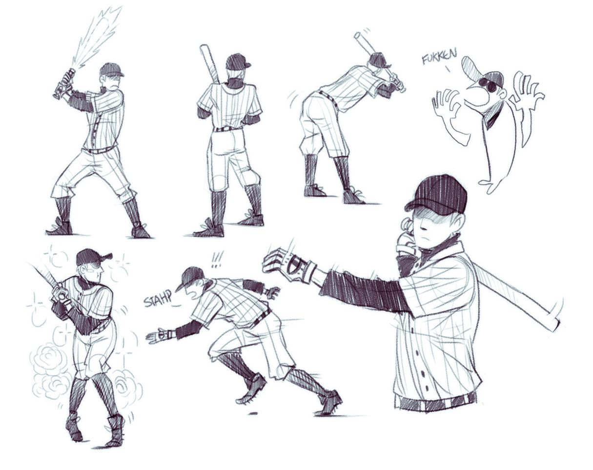 Pin By Aselia On Drawing Reference Poses In 2020 Character Design Baseball Bat Drawing Rpg Horror Games