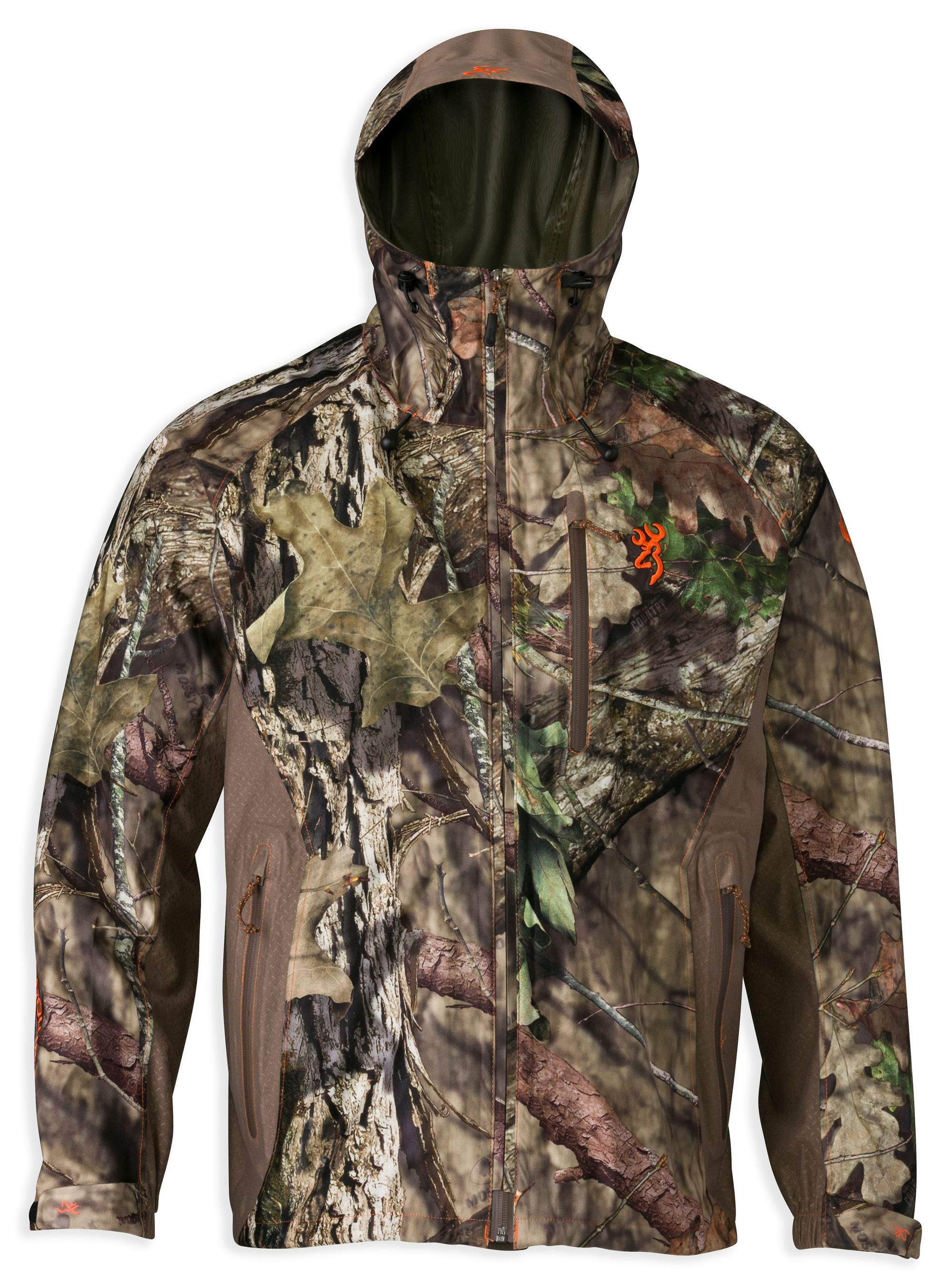 Browning Hell's Canyon Mossy Oak Break Up Country Packable Rain Jacket $265  MSRP Quiet ultralight Pre