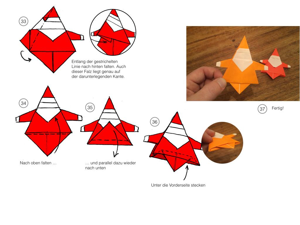 origami weihnachtsmann so kurz vor weihnachten kommt hier. Black Bedroom Furniture Sets. Home Design Ideas