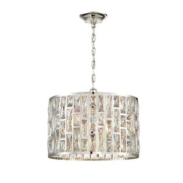Lusso round chandelier eurofase at lightology