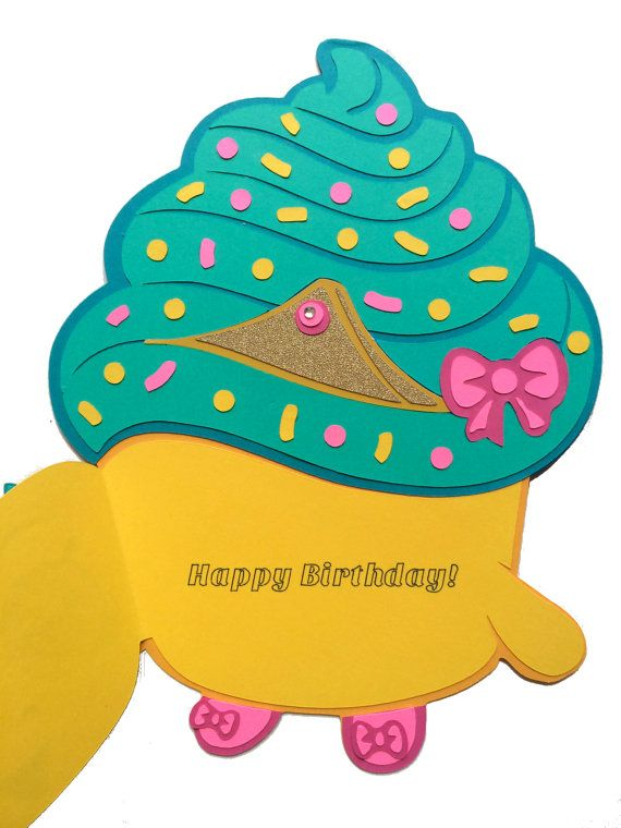 Shopkins Birthday Card Shopkins Cupcake Queen By