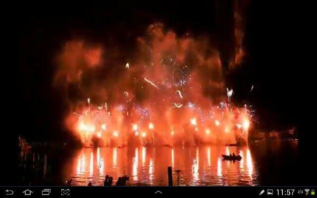 Les feux aux fêtes de Genève