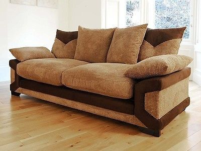 Dino 3 2 Fabric Sofas In Brown Beige Or Black Grey Maymun Co Uk Fabric Sofa Sofa Sofa Bed Uk