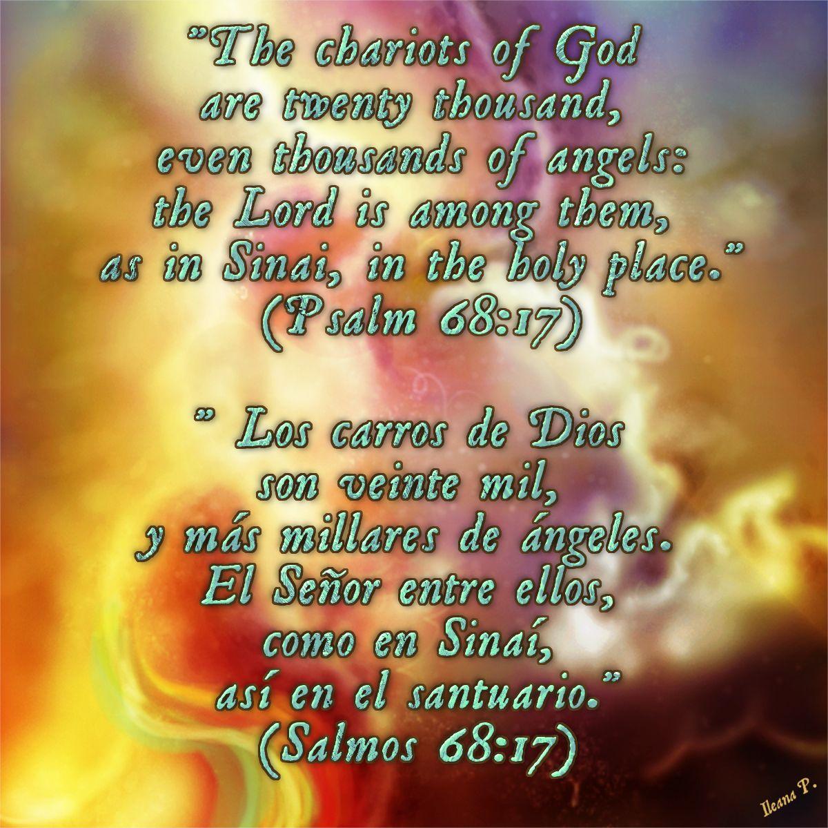 Psalm 68 17 Salmos 68 17 Psalm 68 Psalms Book Of Psalms