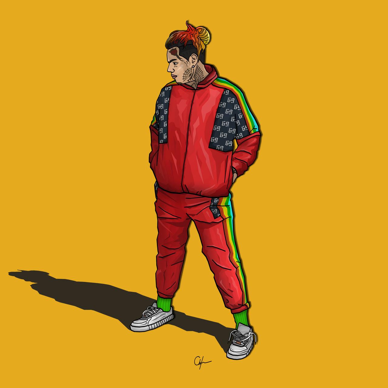 Pin by CAUTION on 6IX9INE in 2019 | Rapper art, Sneaker art, Art