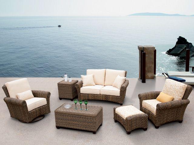 Vanna - Wicker - The Great Escape Weathered Furniture Custom Cushions Backyard Retreat & Vanna - Wicker - The Great Escape | Redecorating ideas | Furniture ...