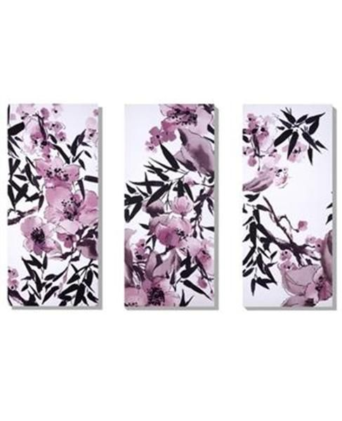 Oriental Chery Blossom Painted Canvas Painted Canvas Japanese Art Cherry  Blossom Wall Art