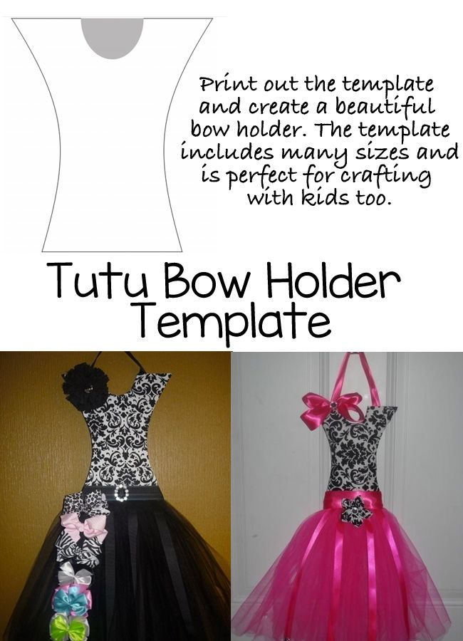 This Tutu Bow Holder Template Will Make It So Easy To Diy And