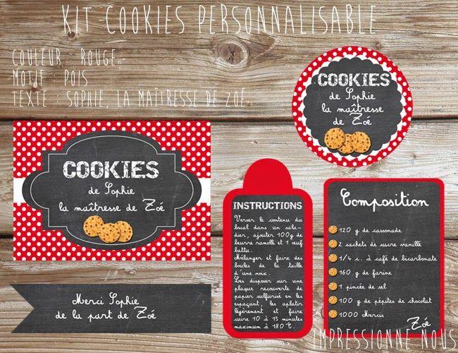 Berühmt Impressionne nous !: Printables Kit Cookies (téléchargement  JS99