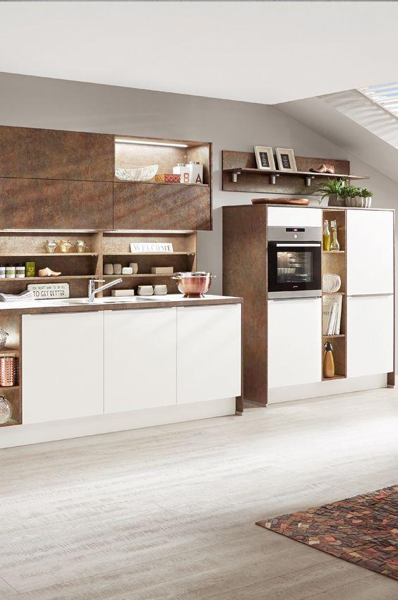 Küche In Kupfer Und Weiß
