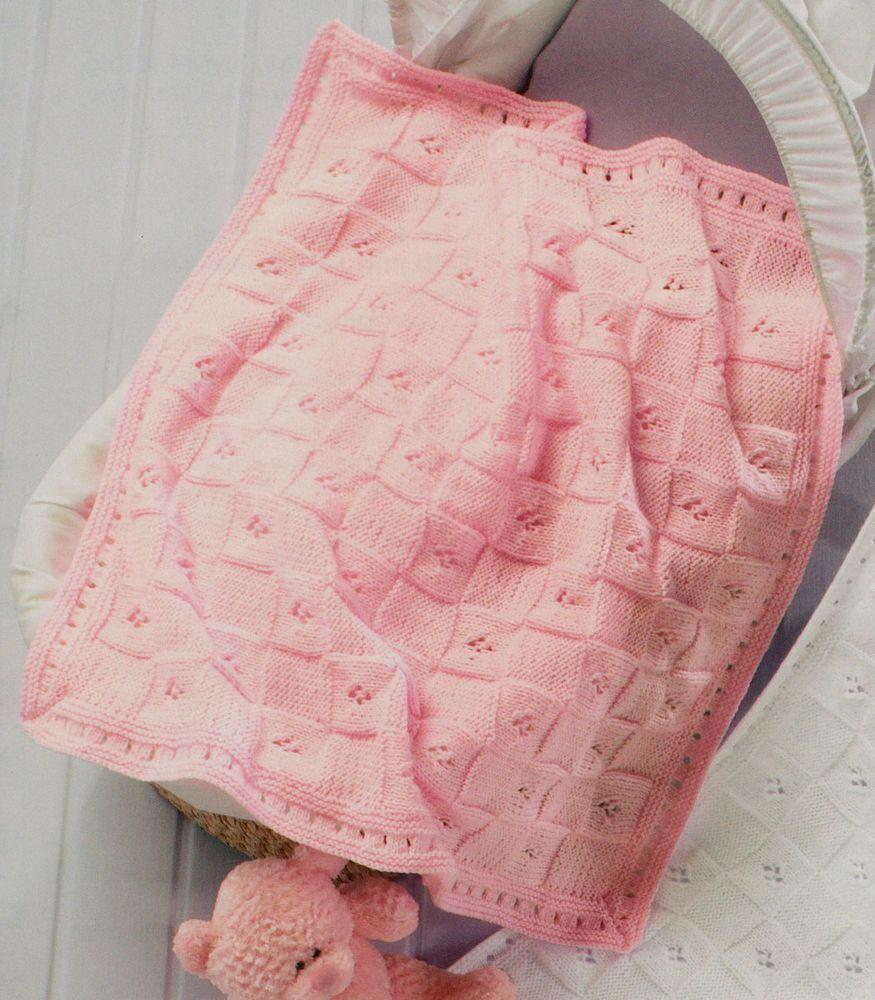 Baby Blanket & Shawl Easy Pattern ~ DK Knitting Pattern | Baby ...
