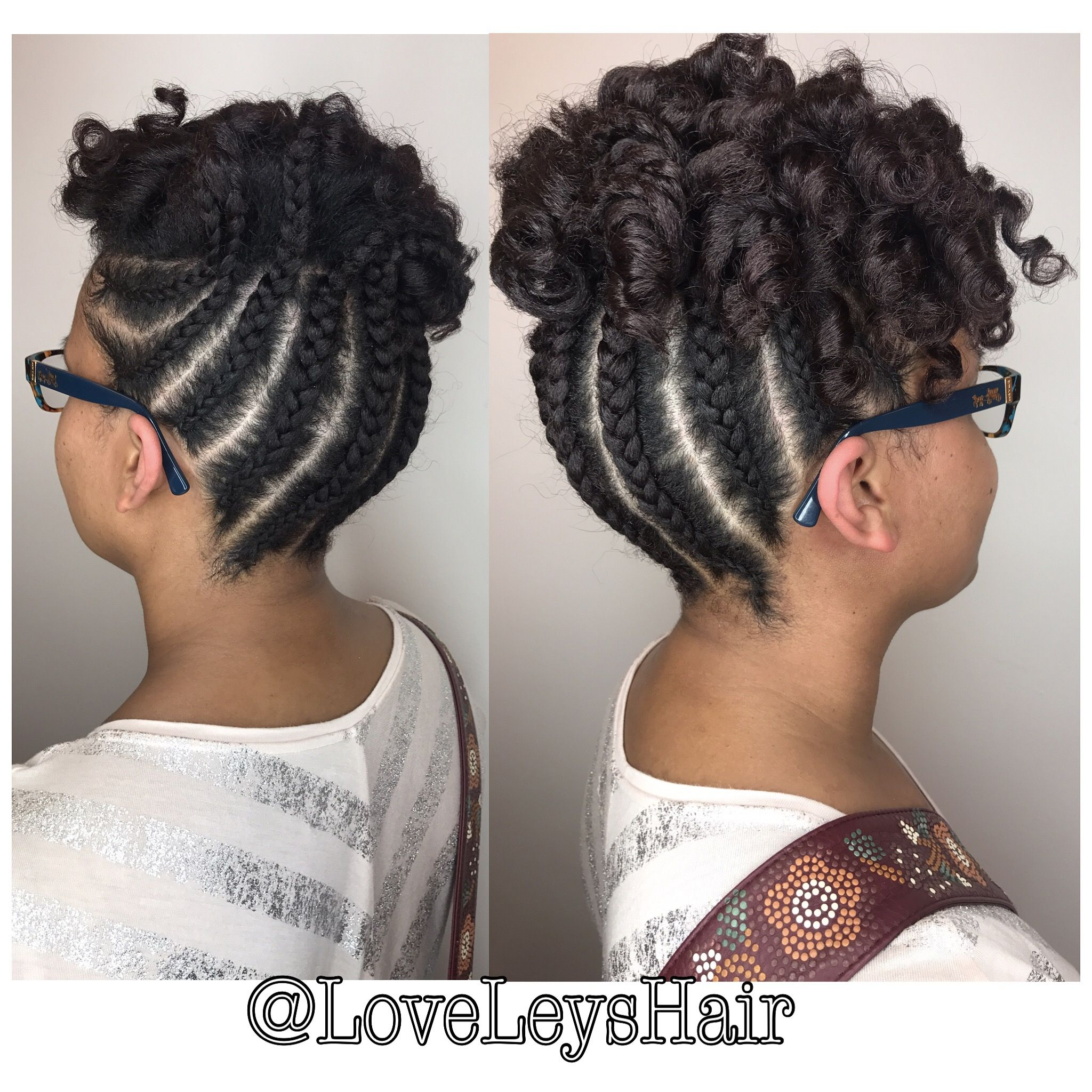 4c Hairstyle Braids Cornrows With Flexi Rod Set Natural Hair