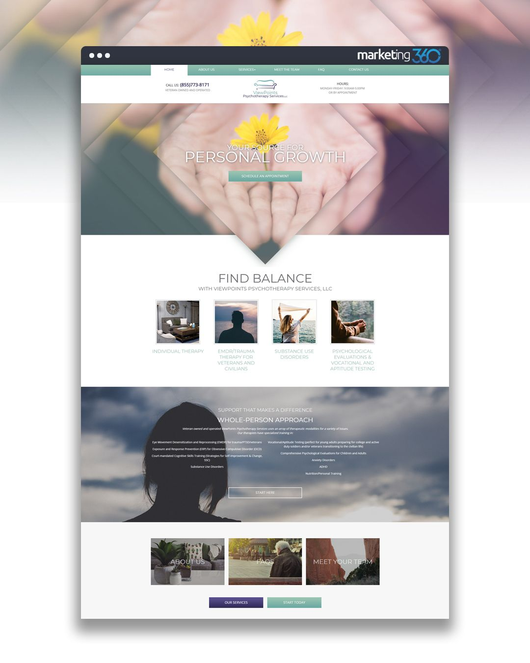 Design Of The Day Psychotherapy Services Website Design Concept By Our Talented Designer Katherine Hess Online Web Design Website Design Design Online Store