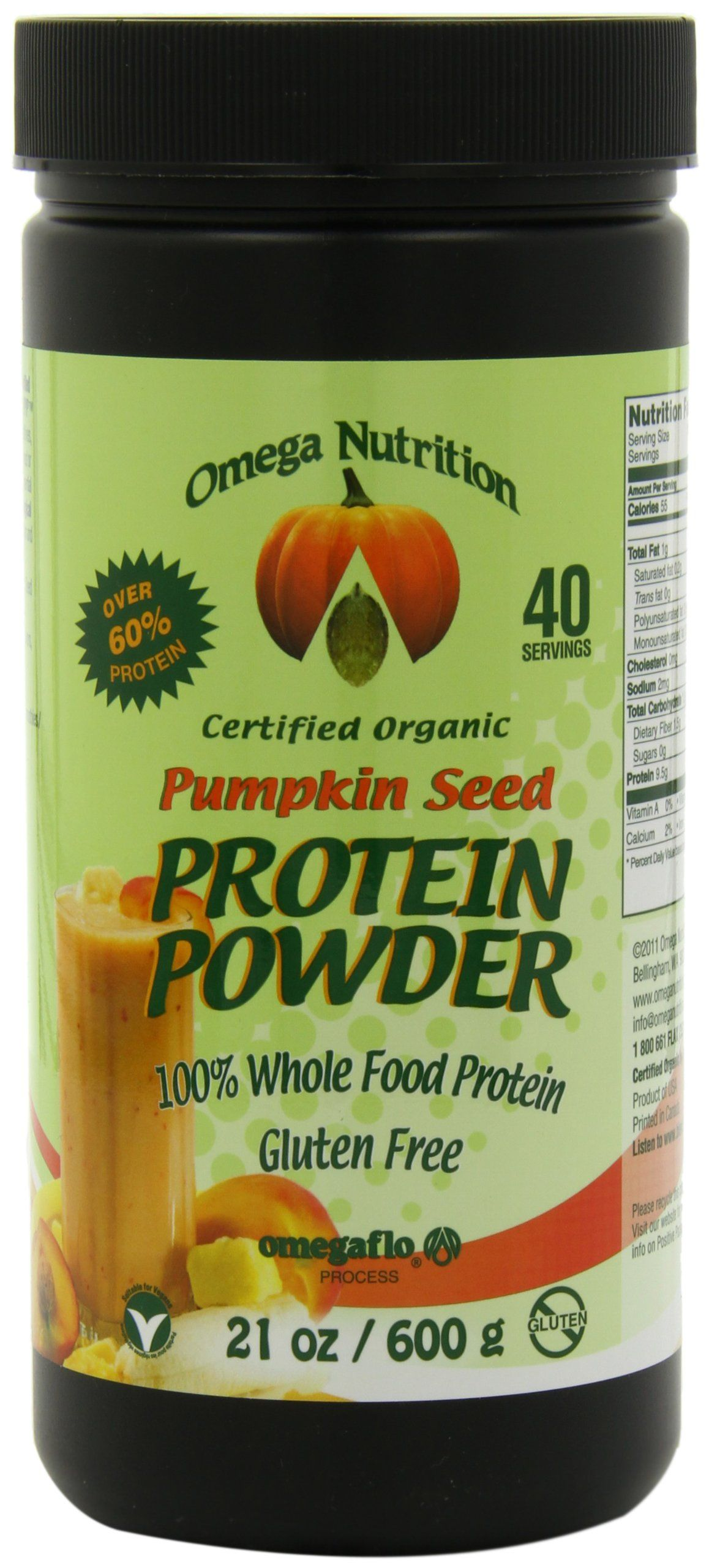 Omega Nutrition Pumpkin Seed Protein Powder, 21Ounce