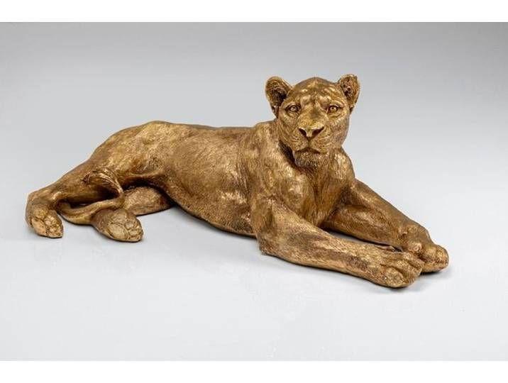 Kare Deko Figur Lion Gold 51727 Gold Kunststoff In 2020 Lion