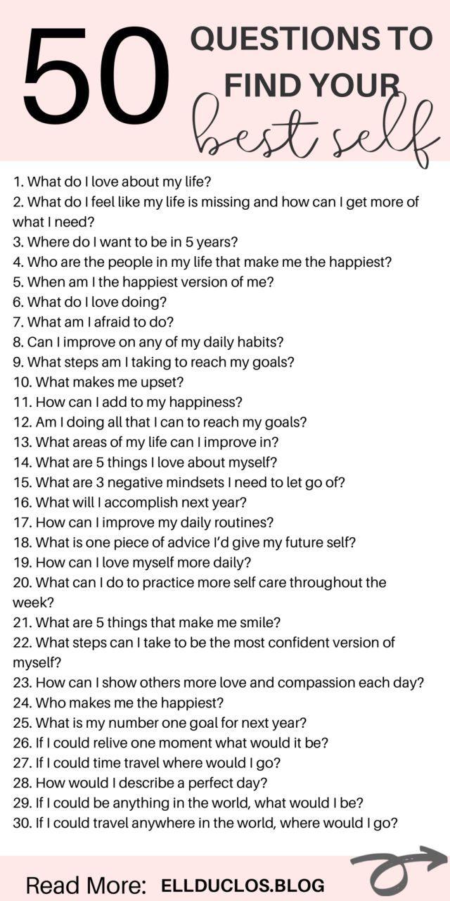 50 Fragen, die beantwortet werden müssen, um Ihr bestes Wachstum zu erzielen   – Personal Development   Self Improvement