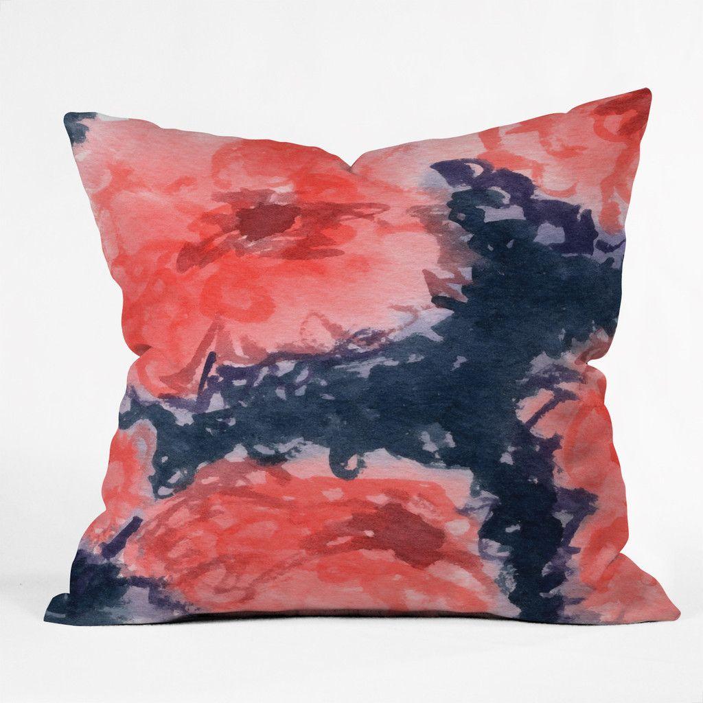 social proper stark blumen throw pillow throw pillows and pillows. Black Bedroom Furniture Sets. Home Design Ideas