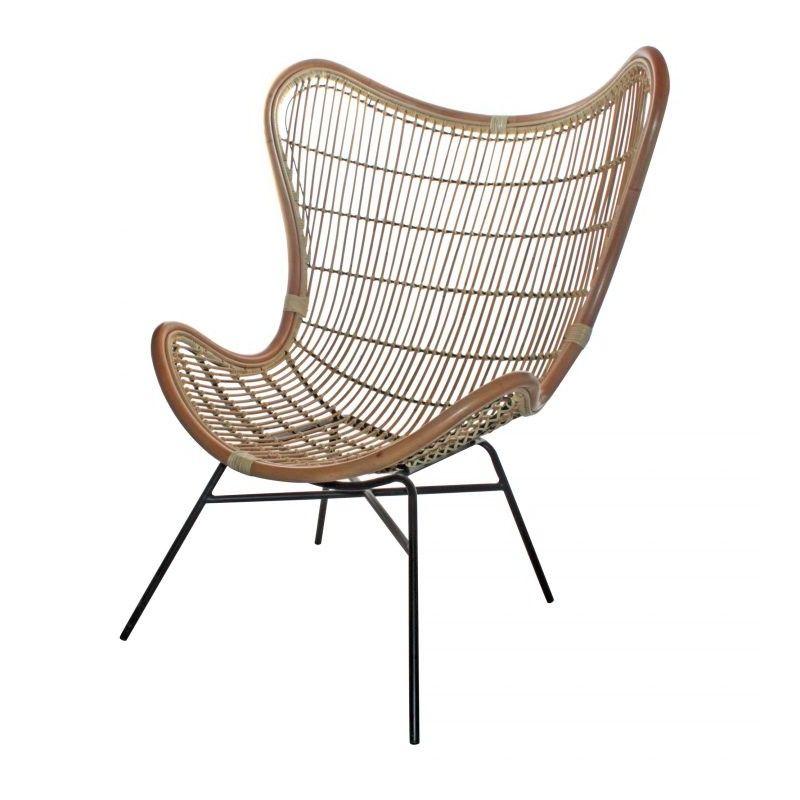 p>El asiento de la silla Rattan Egg Chair ha sido fabricado en ratán ...