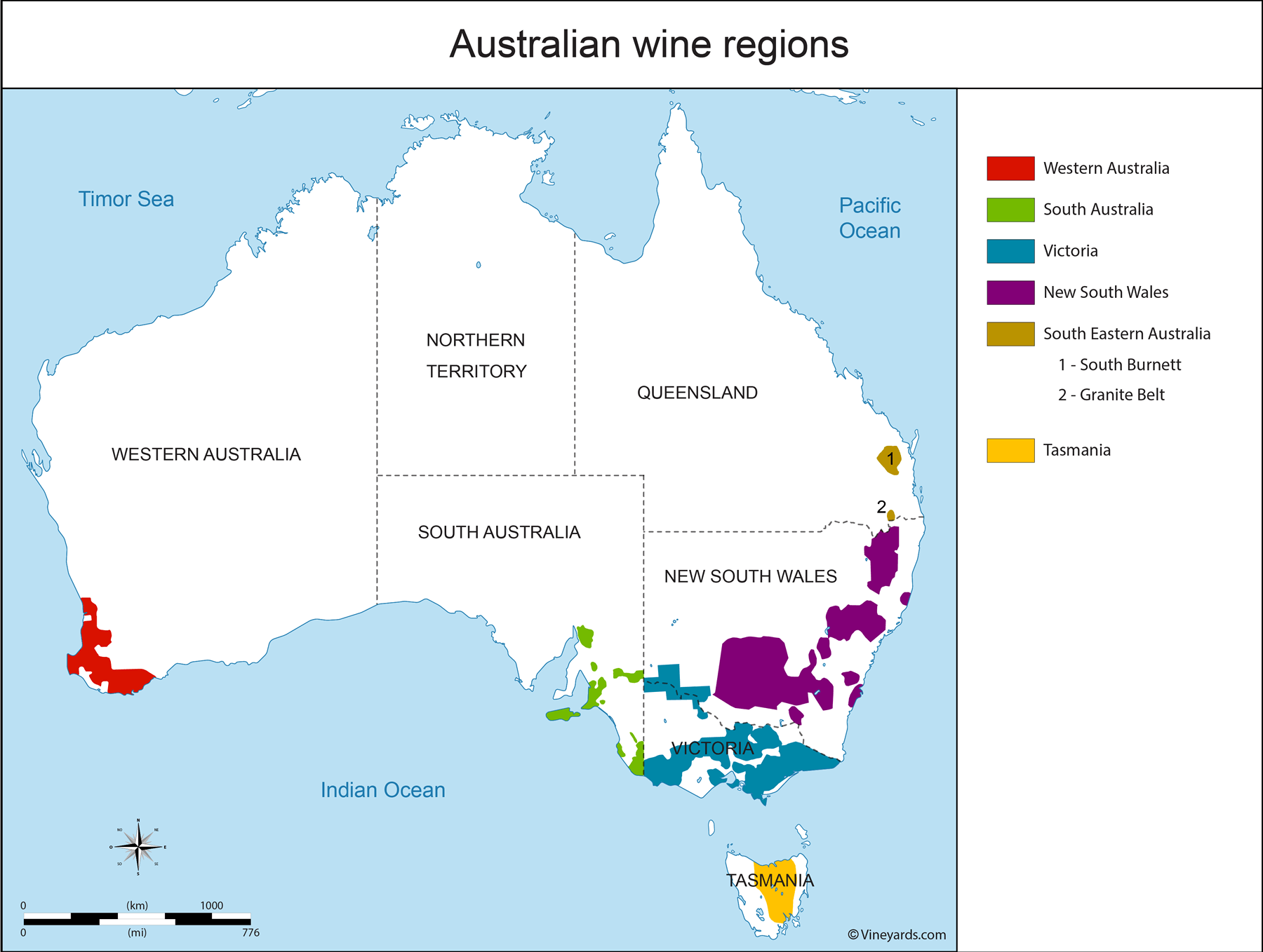 Map Australia Tasmania.New South Wales South Australia Tasmania Victoria Western