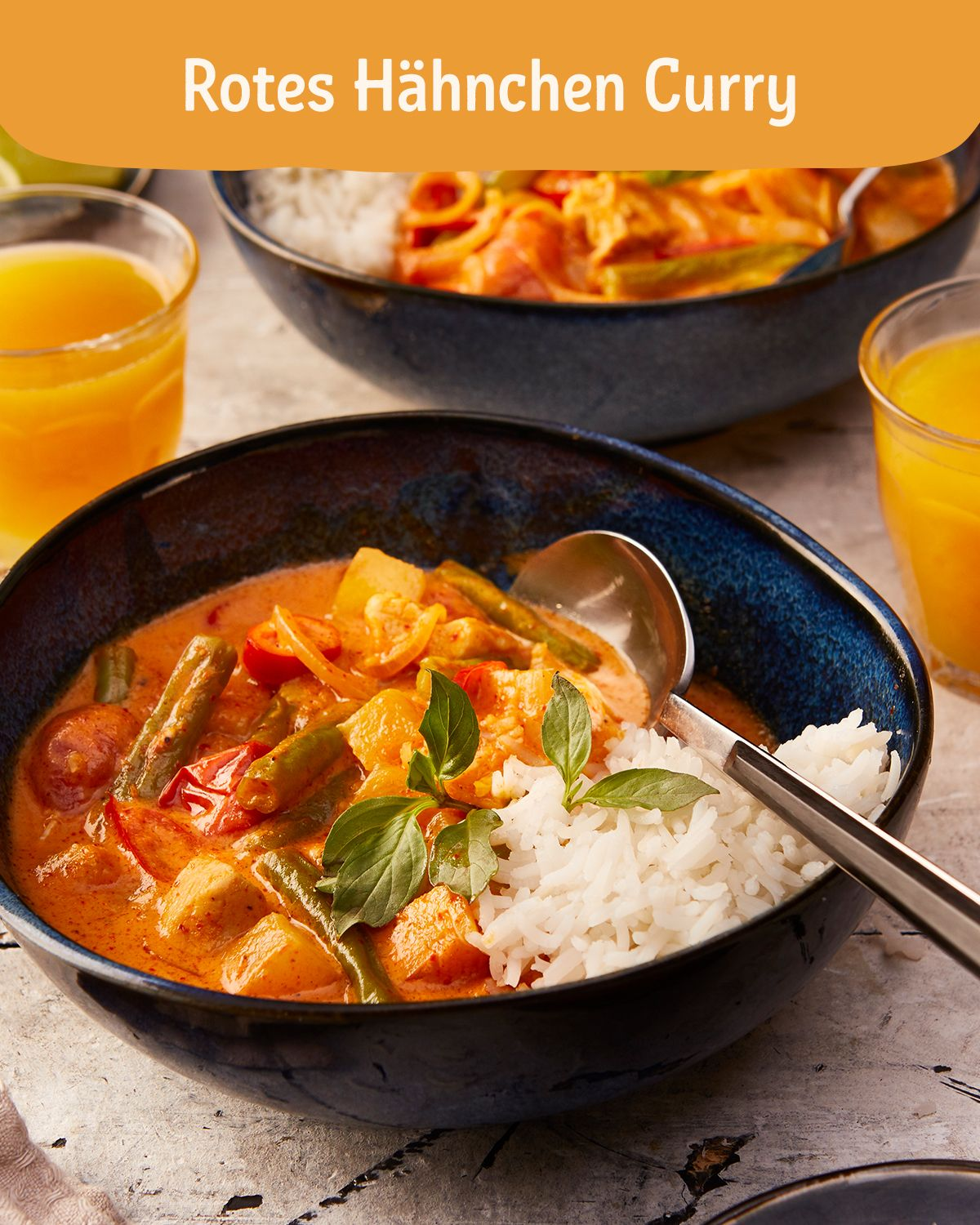 Rotes Hähnchen Curry