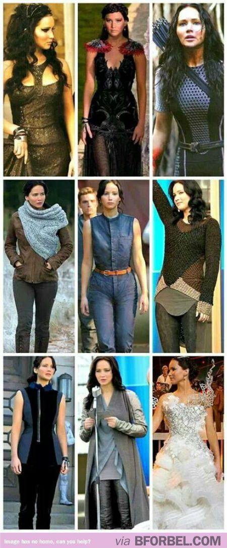 all of katniss�s outfits in �catching fire�� hunger
