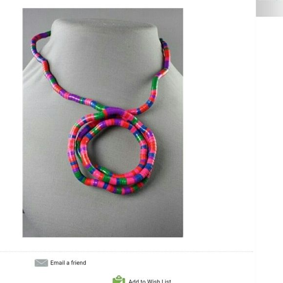 Stretchable, bendable necklace Stretchable, bendable multicolor  necklace Jewelry Necklaces