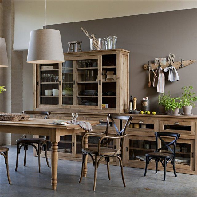 table rectangulaire rallonges germaine pin massif am pm la redoute soldes deco. Black Bedroom Furniture Sets. Home Design Ideas