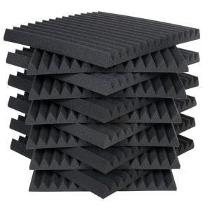 Auralex Auralex Studiofoam Wedges 2 Ft W X 2 Ft L X 2 In H Charcoal Half Pack 12 Panels Per Box 2sf22cha Hp Studio Foam Recording Studio Home Home Studio Music