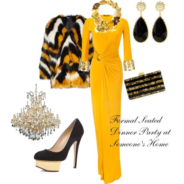 Dinner party outfit by splenderosa on polyvore outfit for Outfit ideas for dinner party