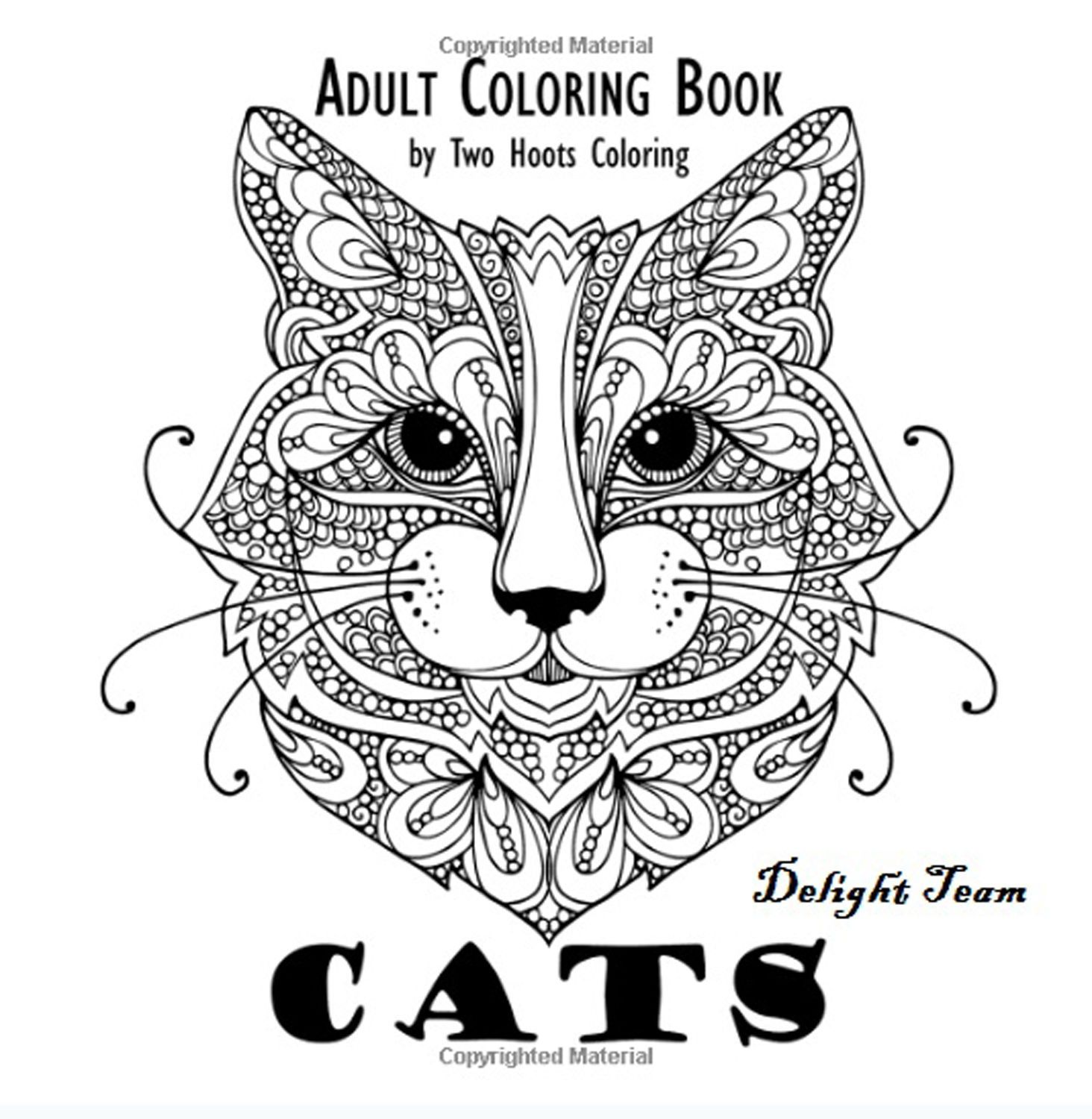 Stress relieving cats coloring - Cats Coloring Book Designs Adult Grownups Stress Relief Relaxing Patterns Paint
