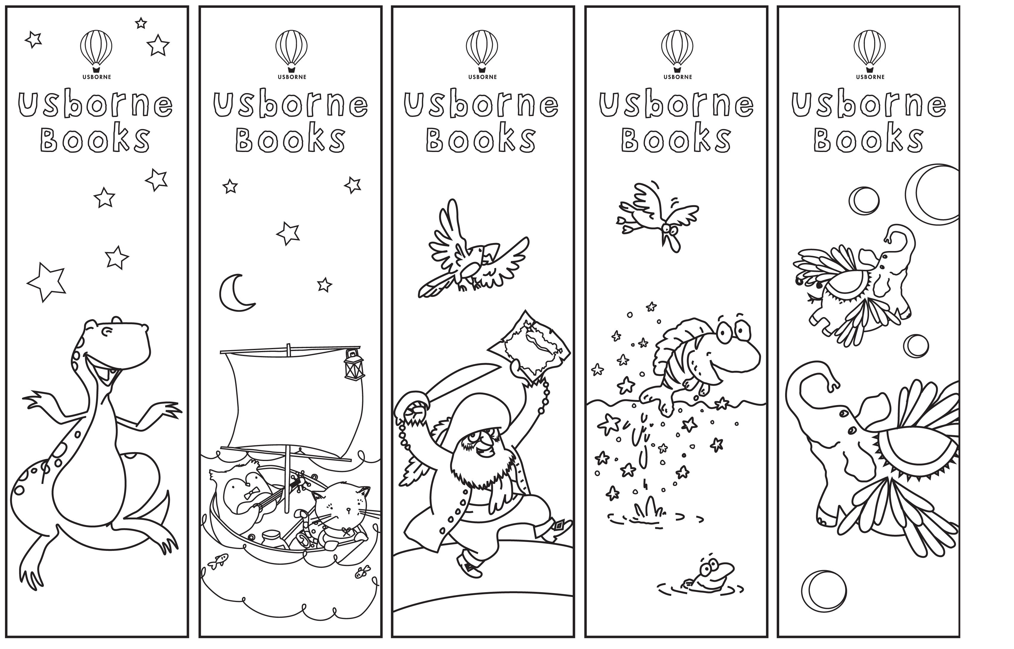 Bookmarks Colouring Urp