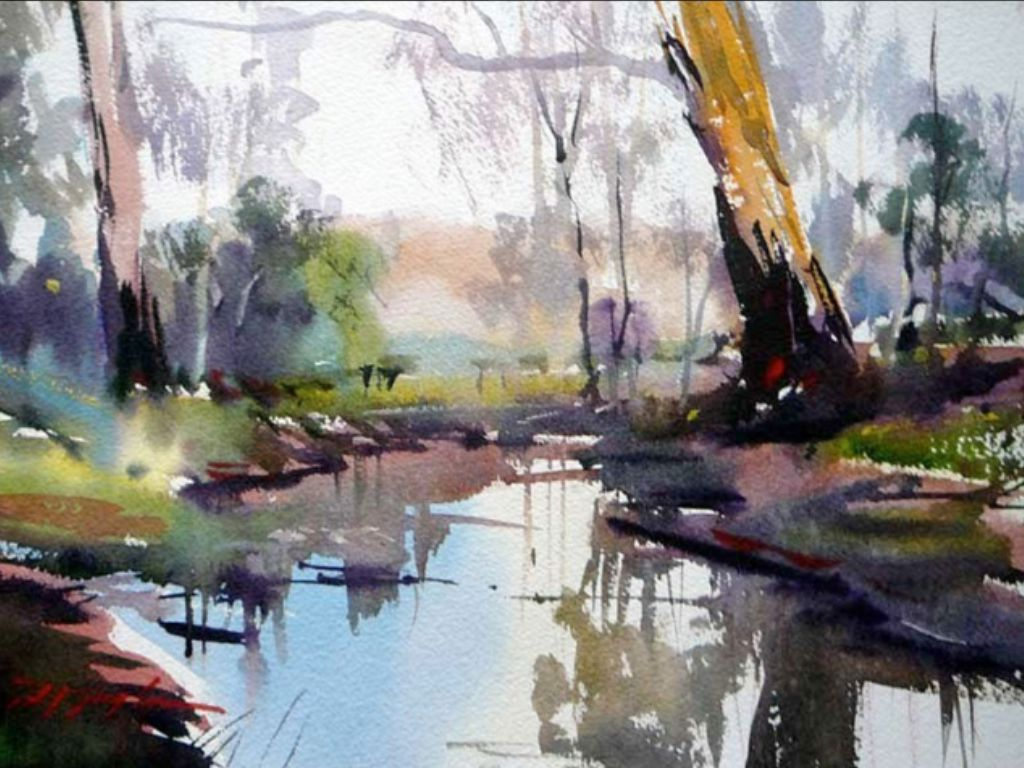 David Taylor Watercolor Landscape Paintings Watercolor Art
