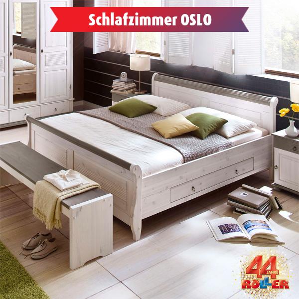 Bett OSLO: Attraktives Schlafzimmerprogramm OSLO im Landhausstil mit ...