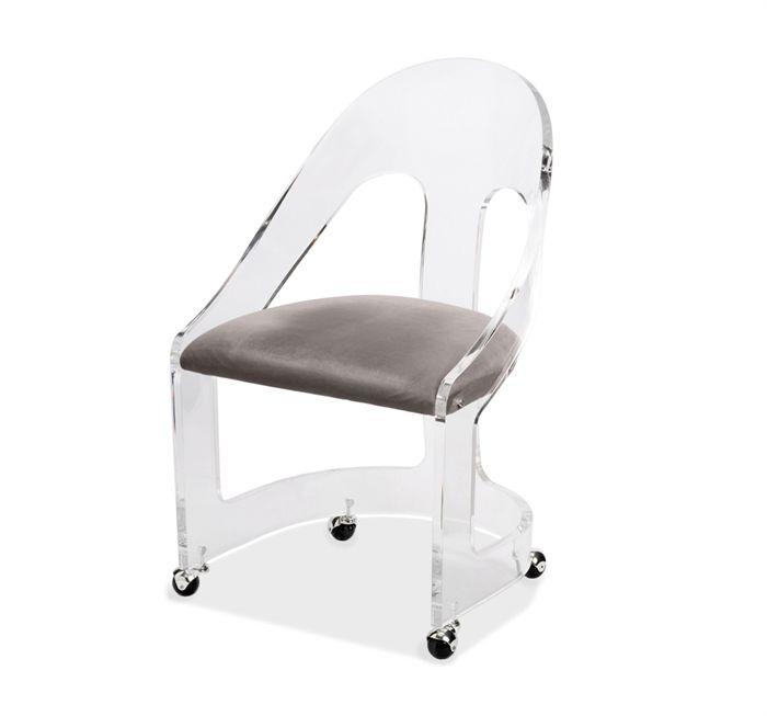 Romy Acrylic Chair Nickel Sessel Design Sessel Design